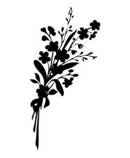 Bunch of flowers - silhouette