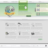 Web site design template with icons set