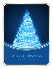 Christmas tree from light vector background. Card or invitation.