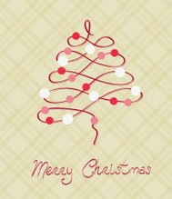 Merry Christmas Postcard in vector