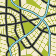 vector seamless city map background