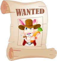 poster of a wanted bunny