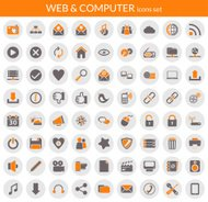 Selection of various web-related computer icons