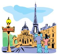 Paris abstract image vector