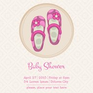 Baby Shower or Arrival Card with Place for your text