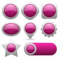 Eight different buttons in pink color