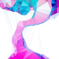 Technology Meets Art  Vector Sharp Polygon Abstract Background