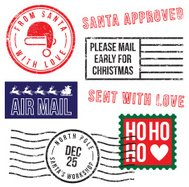Santa's Christmas rubber stamps