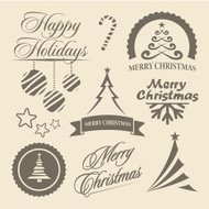 Christmas and New Year symbols, design elements