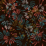 vector of firework pattern background