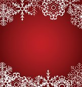 Christmas snowflakes background vector illustration