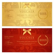 Gift certificate (voucher / coupon) pattern (ticket, banknote, m