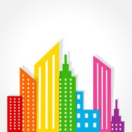 Abstract colorful building design