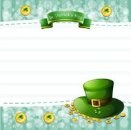 stationery for St. Patrick's Day with a hat and coins