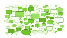 many green conversation icons