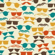 Vector Seamless Hipster Pattern