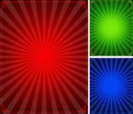 Star Burst Background Color Set