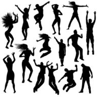 Silhouettes de Party people