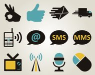Office and communication icon set