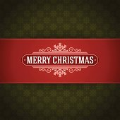 Merry Christmas postcard ornament decoration background.