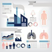 infographics of pollution
