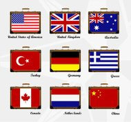 Suitcase. Flags of the world