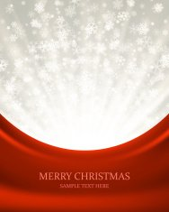 Christmas light and snowflakes vector background.