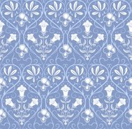 Seamless pattern with classic floral ornament