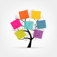Art tree with stickers for your design