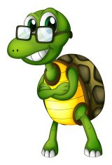 turtle standing with an eyeglass