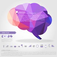 brain banner and business icon