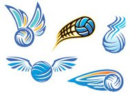Volleyball symbols and emblems