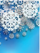 Beautiful snowflake Christmas background. + EPS10