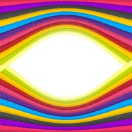 Rainbow Colored Stripes Banner. Abstract Vector Background