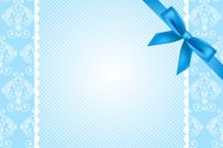 Vector blue background with lace and bow