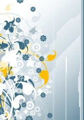 abstract vertical modern background with floral elements, vector