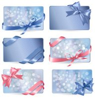 Set of colorful Gift cards