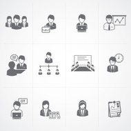 Business and Office people Icons set