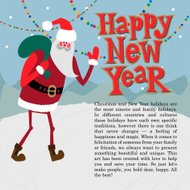 New year greeting card concept. Winter background with text