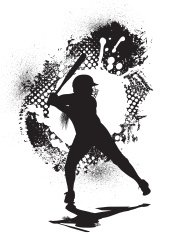 Girls Softball All-Star Grunge Graphic - Batter