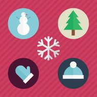 Winter Flat Icons