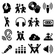 Dance Party Icons - Black Series