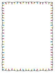 Fairy Light Christmas Card Border