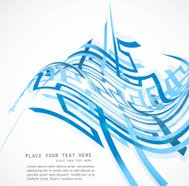 abstract colorfull blue line technology vector