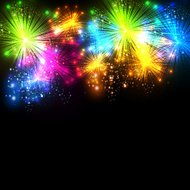 firework vector celebration background