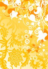 abstract modern background with floral elements, vector illustra