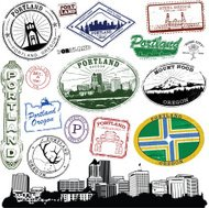 Portland Oregon Stamp Series