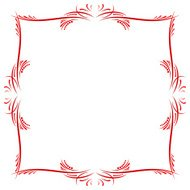 Red Ribbon Calligraphy Frame