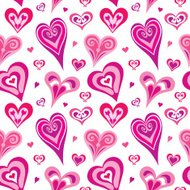 Seamless Abstract Heart Pattern