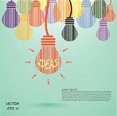 Creative light bulb, Business and ideas concepts,Vector illustration.